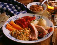 Erter, kjøtt og flesk -