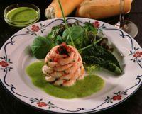 Reketårn med salsa verde -