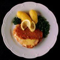 Kalveschnitzel Cordon Bleu -