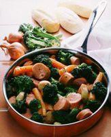Pølsegryte med grønnsaker -