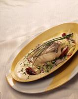 Ristet torsk med kremet løk -