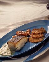 Ristet torsk med gressløk-beurre blanc -
