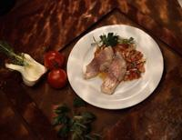 Sei med tomat og fennikel -