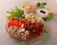 Grønnsaker med dipsauser -