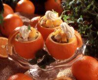 Appelsiner med fruktsalat -
