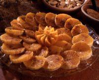 Marokkansk appelsindessert -