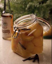 Pærer med rom og vanilje -