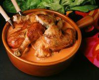 Grillet kylling i ostesaus -