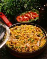 Safranrisotto med kylling -