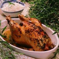 Helstekt, urtekrydret kylling -