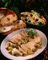 Sprengt kalkunbryst i olivensaus -