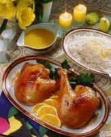 Kylling med appelsinsaus -