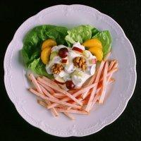 Kalkunskinke med waldorfsalat -