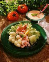 Reke- og melonsalat -