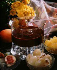 Sjokoladefondue med frukt -