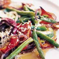 Grillede grønnsaker med honning og sesam -