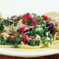 Marinert hummerspaghetti -