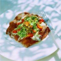 Kalveschnitzel med kremet spinatstuing -