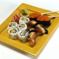Sushi med lakserogn -
