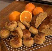 Søt gjærbakst med appelsin -