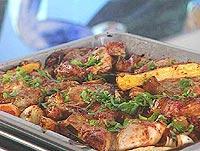 Langpanne med diggekjøtt og gode grønnsaker -