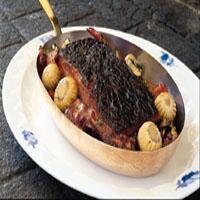 Lun leverpostei med bacon og sopp -