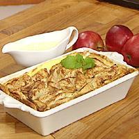 Brødpudding med epler -