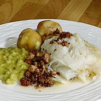 Lutefisk kokt i mikrobølgeovn -