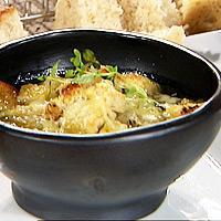 Løksuppe med timian -