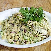 Bulgursalat med grillet fennikel -