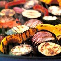 Grillede grønnsaker på marokkansk vis -