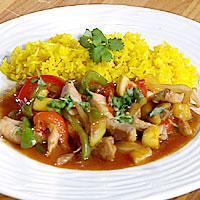 Sur-søt wok med svin -