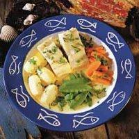 Kokt klippfisk med grønnsaker -
