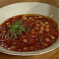 Tomatsuppe med kikerter -