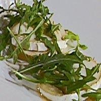 Baguette med lun chèvre og honning -