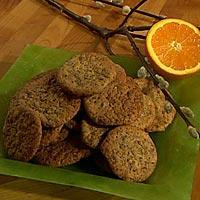 Påskekjeks med nøtter, appelsin og sjokolade -