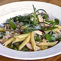 Kremet pasta med kylling og grønt -