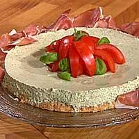 Basilikum- og ostepai -