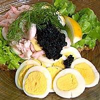 Smørbrød med egg og reker -
