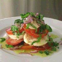 Tomat-/mozzarellasalat -