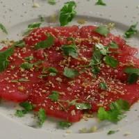 Carpaccio på tunfisk -
