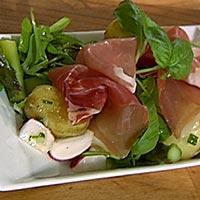 Lun potetsalat med grønn asparges -