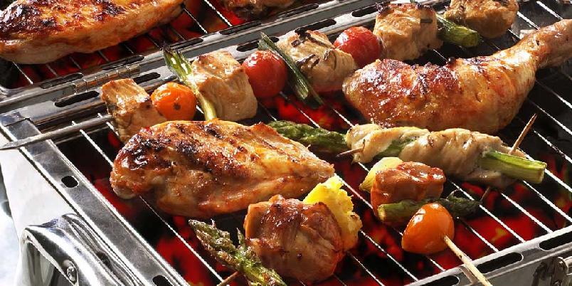 Grillmiks med kylling -