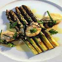 Østers med asparges og sitron -
