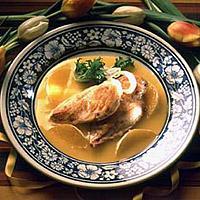 Fersk kyllingfilet med appelsinsaus -