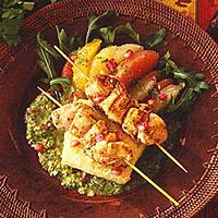 Chilenske kyllingspidd -