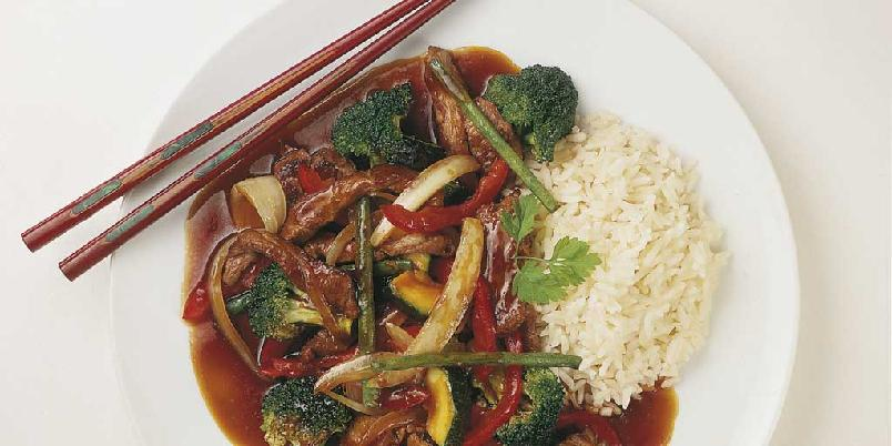 Ingefærlam i wok -