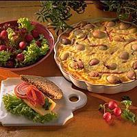 Slankerens pai med grønnsaker -