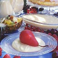 Tyttebærpærer med ingefærsaus -