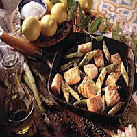 Laks og asparges -